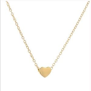 Grit and Grace Jewelry - Stainless Steel Gold Dainty Heart Necklace